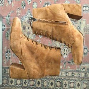 Vince Shoes - Suede Caramel Vince Booties